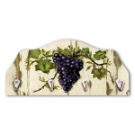 Porta-Chaves Cacho de Uvas para Vinho Bege - 4 Ganchos - em MDF - 29x21 cm