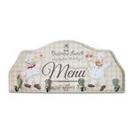 Porta-Chaves Chefs Cozinha em Madeira - 4 Ganchos - 29x12 cm