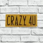 Porta-Chaves Crazy 4U Amarelo em Metal - 30x12 cm