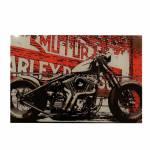 Porta-Chaves Desenho Moto Preta em Vidro - 30x20 cm