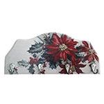 Porta-Chaves Flores de Natal em Madeira - 4 Ganchos - 29x12 cm