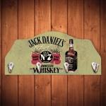 Porta-Chaves Jack Daniels Fundo Verde - 4 Ganchos - em MDF - 29x12 cm