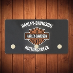 Porta-Chaves Logo Harley Davidson - 3 Ganchos - em Metal - 14,5x8 cm