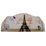 Porta-Chaves Monumentos Paris em Madeira - 3 Ganchos - 29x12 cm