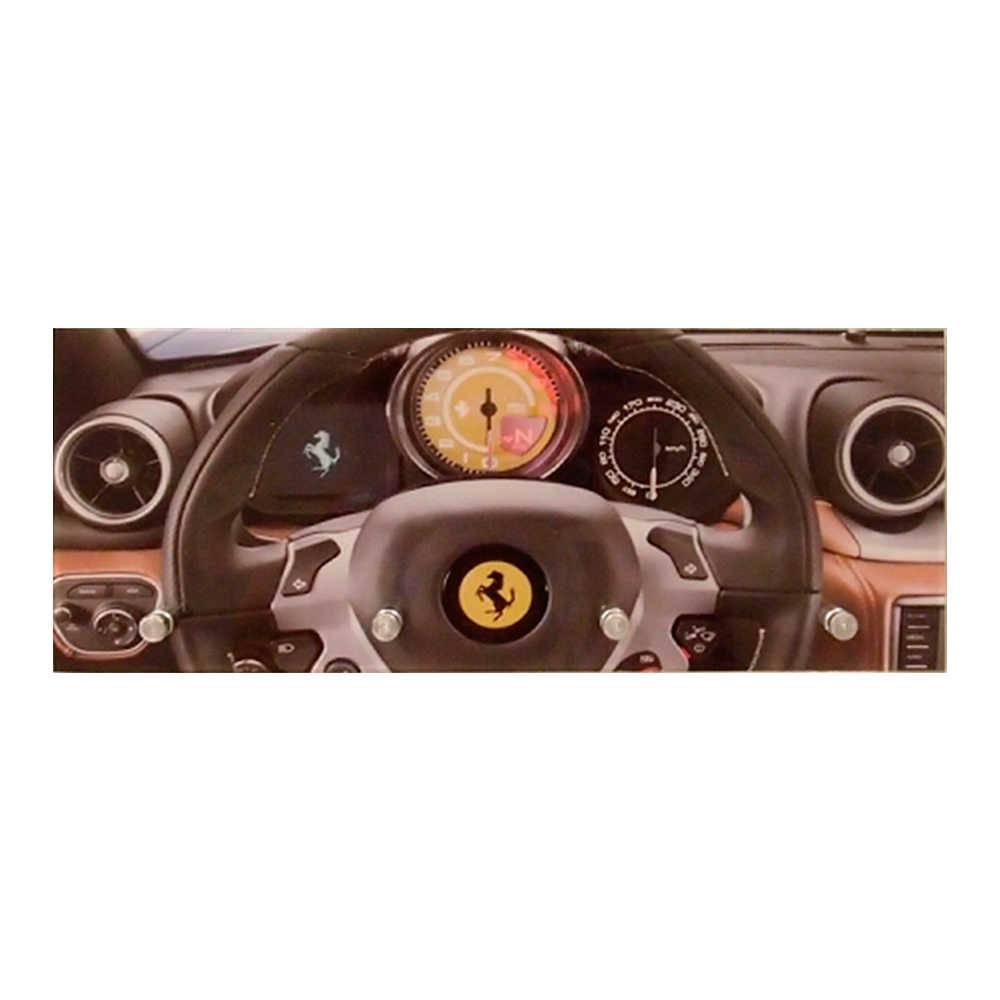 Porta-Chaves Painel Ferrari com 4 Ganchos em Vidro - 30x12 cm