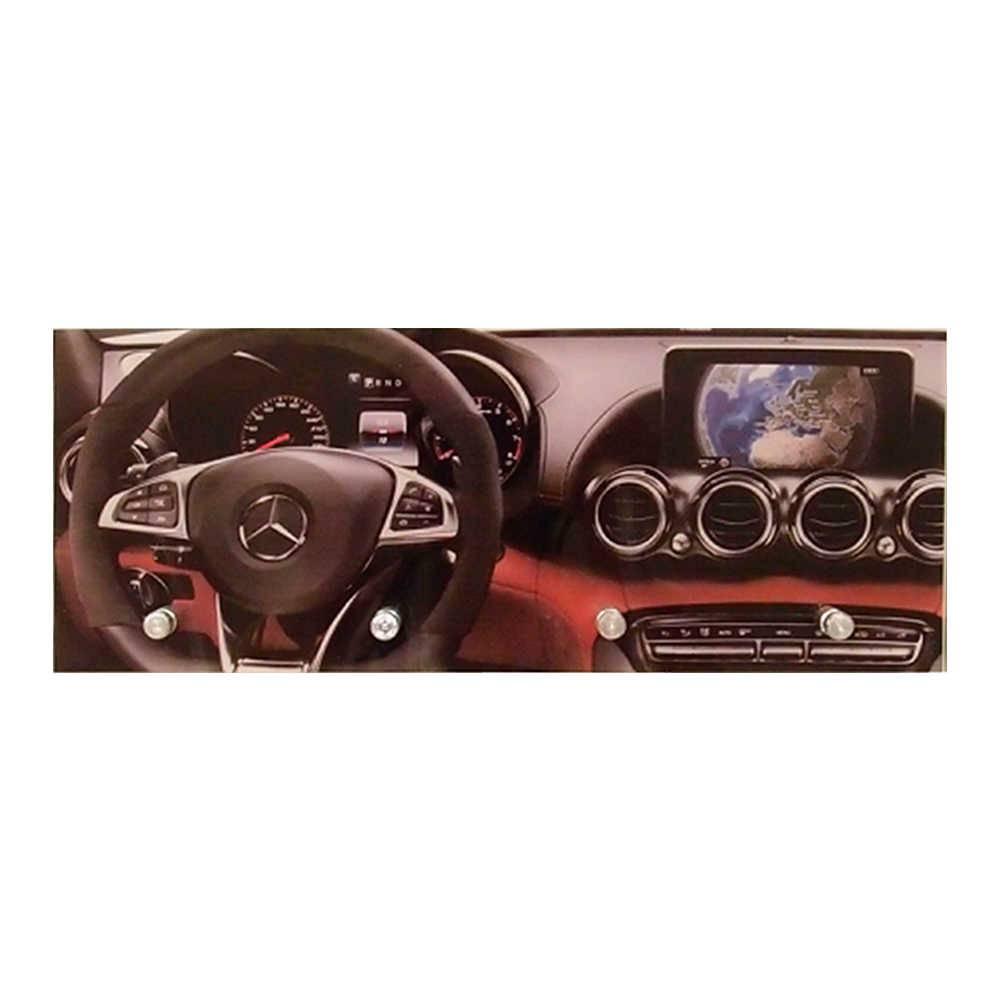 Porta-Chaves Painel Mercedes-Benz com 4 Ganchos em Vidro - 30x12 cm