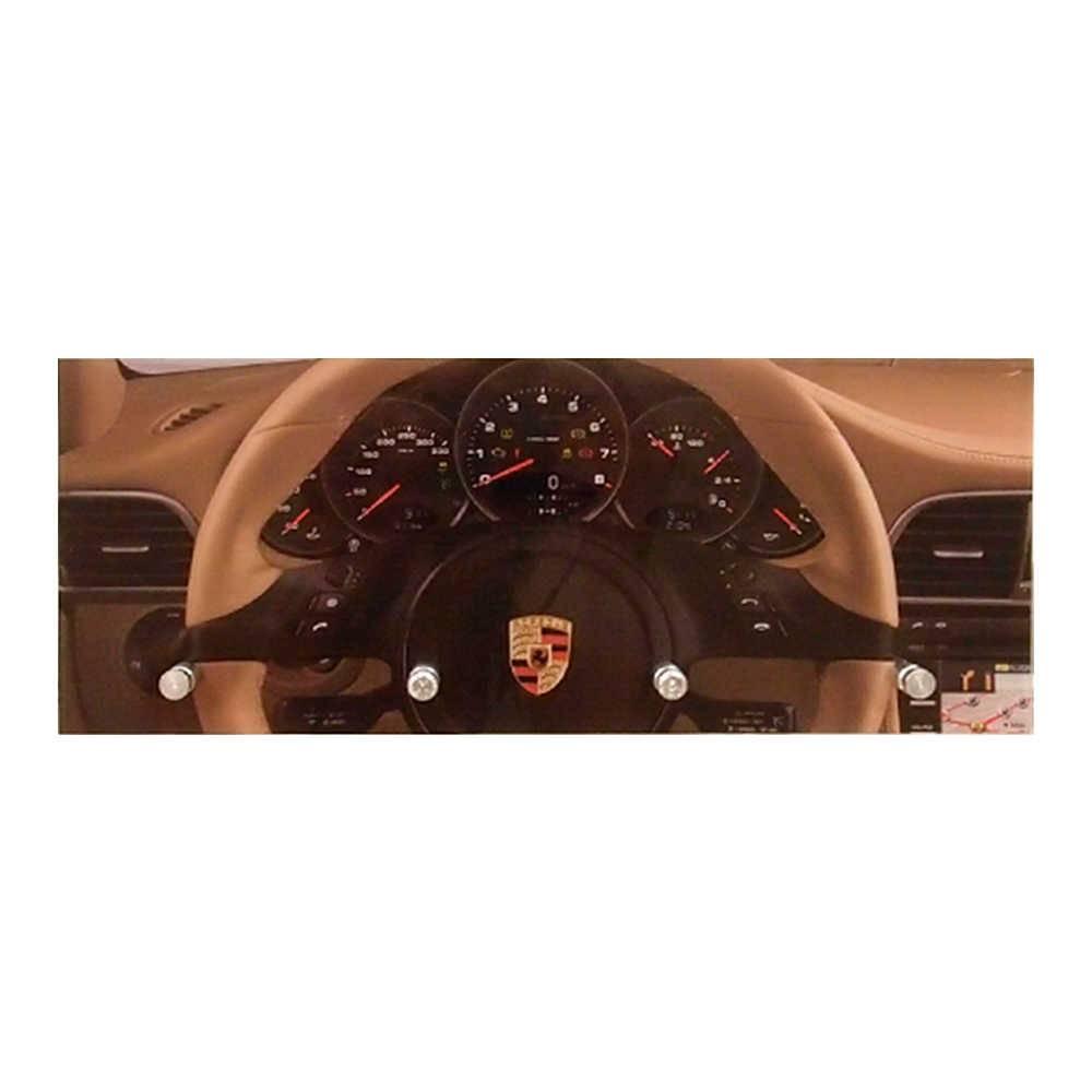 Porta-Chaves Painel Porsche com 4 Ganchos em Vidro - 30x12 cm