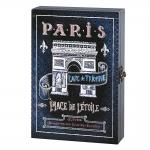 Porta-Chaves Paris Azul em MDF - 32x22 cm