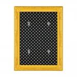 Porta-Chaves Poás - com 4 Ganchos - Amarelo e Preto
