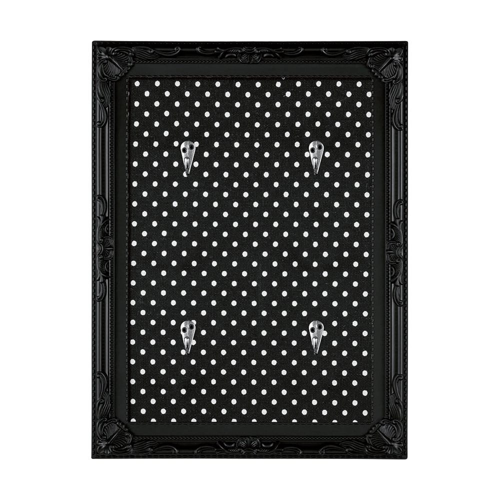 Porta-Chaves Poás - com 4 Ganchos - Preto - 34x26 cm
