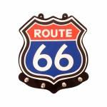 Porta-Chaves Route 66 Multicolorido com 4 Ganchos em MDF