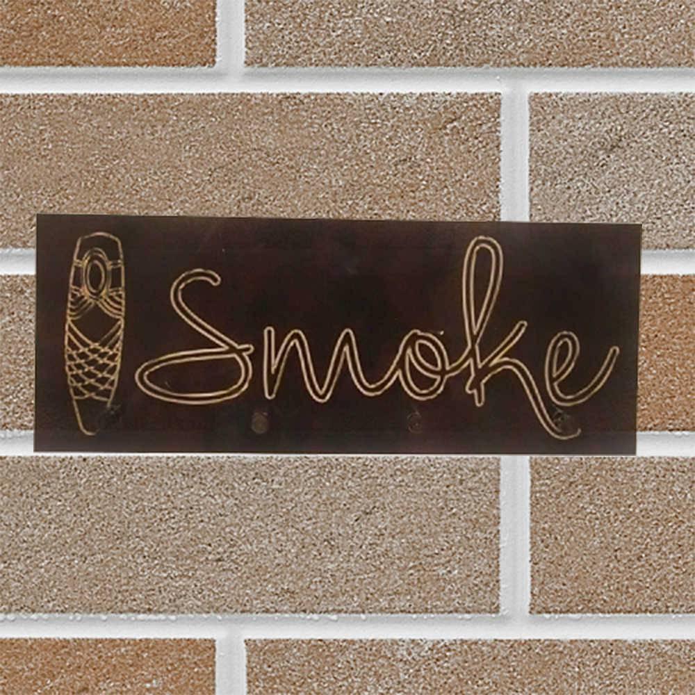 Porta-Chaves Smoke Preto em Vidro - 30x20 cm