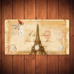 Porta-Chaves Torre Eiffel Sépia - 3 Ganchos - em Metal - 14,5x8 cm