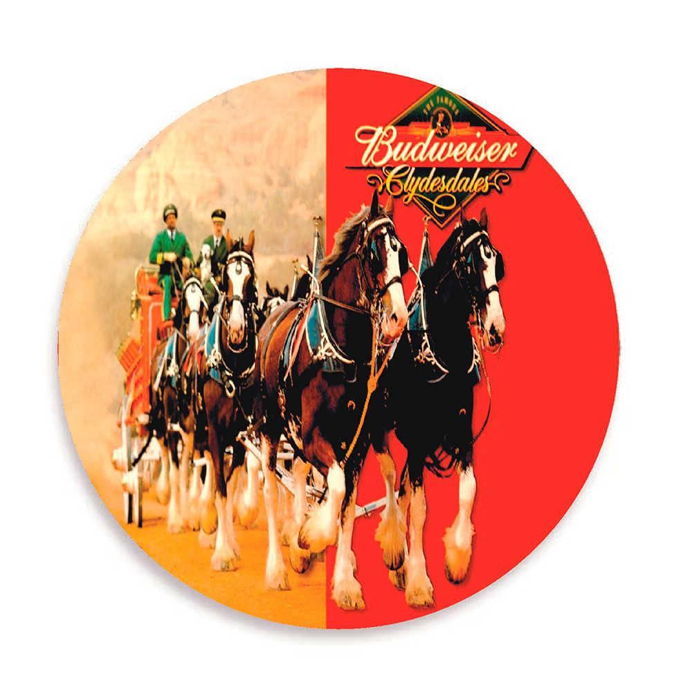 Porta-Copos Budweiser Cavalos - 6 Peças - em Cortiça - 9,7 cm