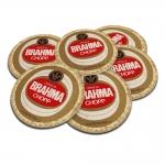 Porta-Copos Cerveja Brahma Chopp - 6 Peças - em Cortiça - 9,7 cm
