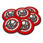 Porta-Copos Cerveja Duff Vermelho - 6 Peças - em Cortiça - 9,7 cm