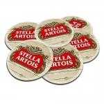 Porta-Copos Cerveja Stella Artois Anno 1366 - 6 Peças - em Cortiça - 9,7 cm