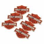 Porta-Copos Harley Logo Retrô Laranja Emborrachados - 6 Peças - 8x8 cm