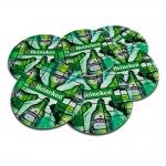 Porta-Copos Hei Heineken Verde - 6 Peças - em Cortiça