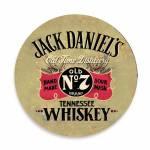 Porta-Copos Jack Daniels N°7 - 6 Peças - em Cortiça - 9,7 cm