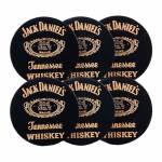 Porta-Copos Jack Daniels Pretos - 6 Peças - em MDF - 10 cm