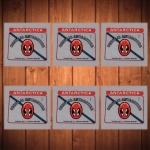 Porta-Copos Logo Cerveja Antarctica - 6 Peças - em Vidro