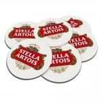 Porta-Copos Logo Cerveja Stella Artois 6 Peças - em Cortiça
