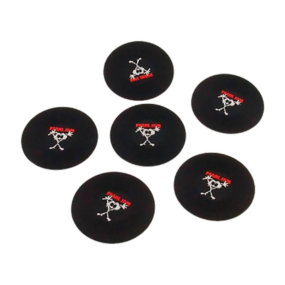 Porta-Copos Logo Pearl Jam Preto - 6 Peças Emborrachadas - 8x8 cm