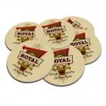 Porta-Copos Royal Cassino Bege - 6 Peças - em Cortiça - 9,7 cm