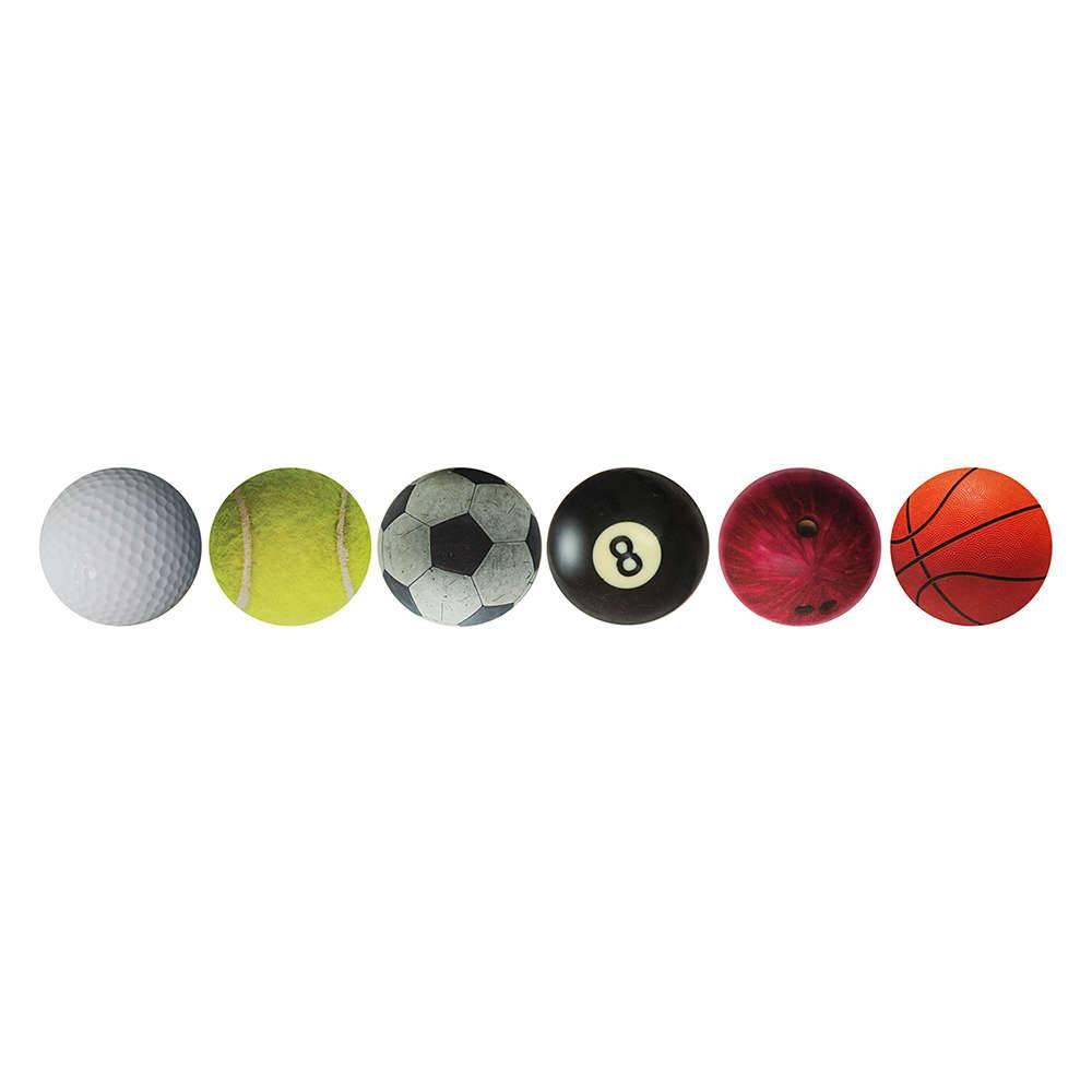 Porta-Copos Sports Ball 6 Peças em MDF - Urban - 30x9 cm