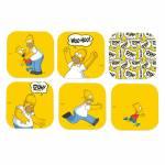 Porta-Copos The Simpsons Homer Amarelo - 6 Peças - em MDF