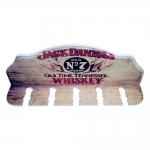 Porta-Espeto Jack Daniels Whiskey Marrom em Madeira - 40x15 cm