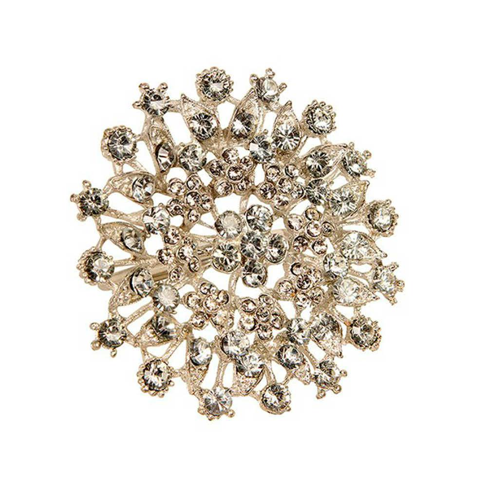 Porta-Guardanapo Jewelry Prata em Metal com Detalhes em Pedras Sintéticas - 7x6 cm