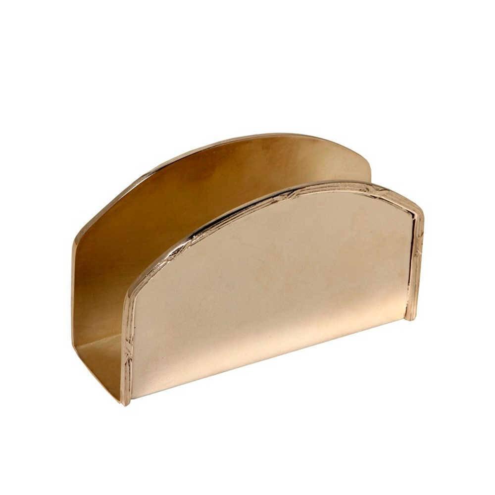 Porta-Guardanapo Tradição em Metal com Banho de Prata - 12x8 cm