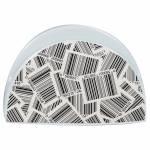 Porta-Guardanapos Barcode Branco e Preto em Porcelana - Urban - 11x6 cm