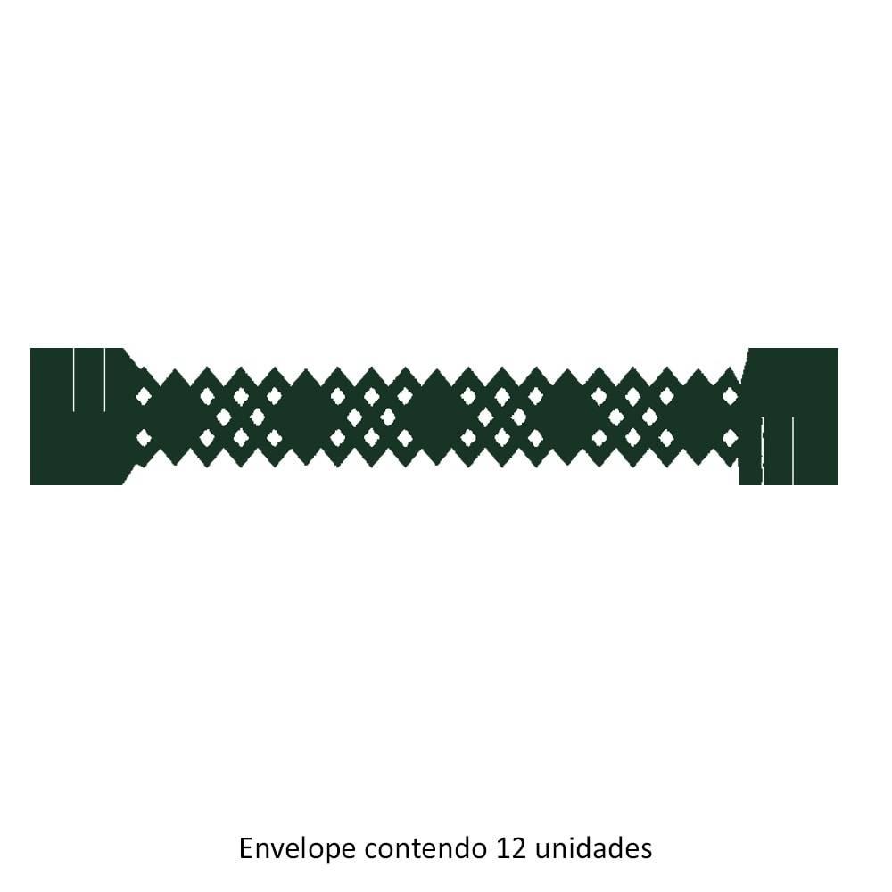 Porta-Guardanapos Pine Verde - 12 Unidades - em Papel Especial - 18x3 cm