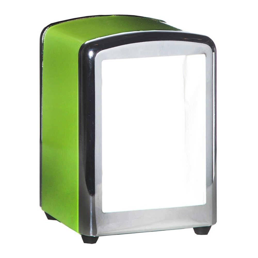 Porta-Guardanapos Sweet Memories Solid Color Green em Metal - Urban - 15x11,5 cm