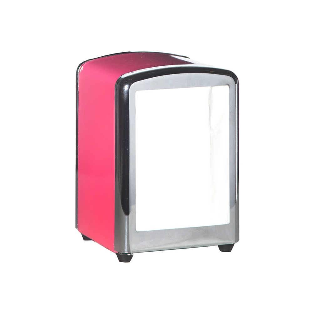 Porta-Guardanapos Sweet Memories Solid Color Pink em Metal - Urban - 15x11,5 cm