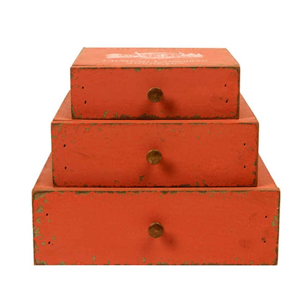 Porta-Joias Deluxe Vermelho em Madeira - 21x20 cm