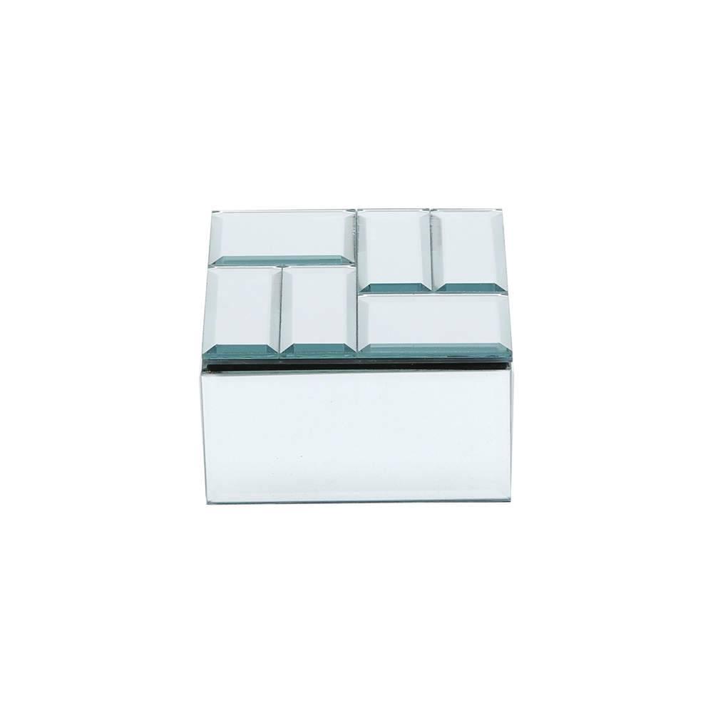 Porta-Joias Mili em Madeira e Espelho - Prestige - 10,5x5,5 cm