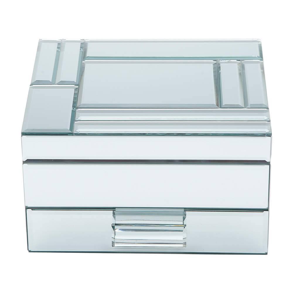 Porta-Joias Mirror em Madeira Espelhada - Prestige - 19x17 cm