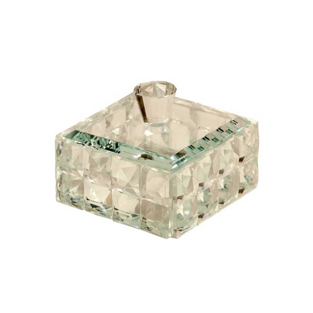 Porta-Joias Prince em Cristal - 11x11 cm