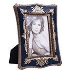 Porta-Retrato Abracadabra Azul/Dourado em Resina - 24x17 cm