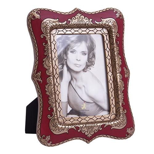 Porta-Retrato Abracadabra Vermelho e Dourado em Resina - 24x17 cm
