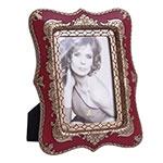 Porta-Retrato Abracadabra Vermelho e Dourado em Resina