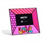 Porta-Retrato Amor - Romero Britto - em Vidro - 24x22 cm