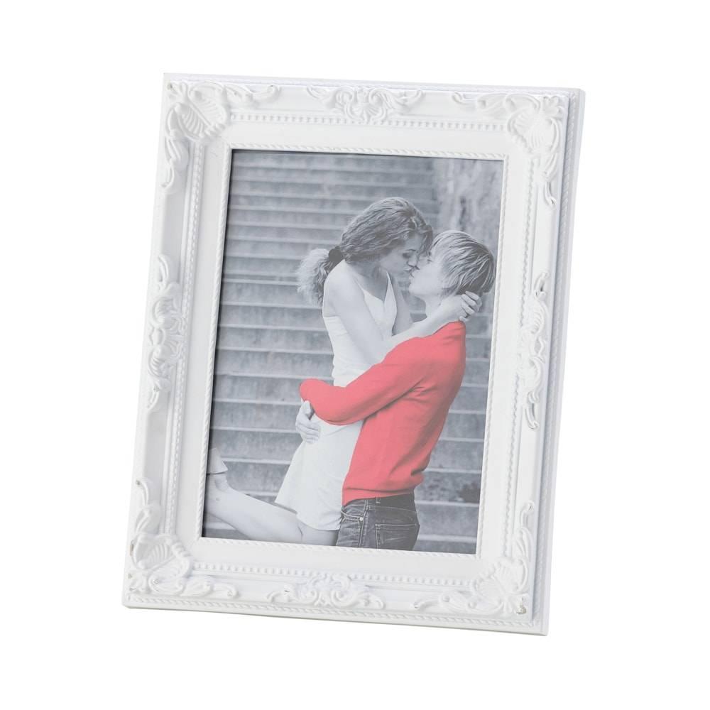 Porta-Retrato Arabesque Branco para Foto 15x20 cm - Lyor Classic - 25x20 cm