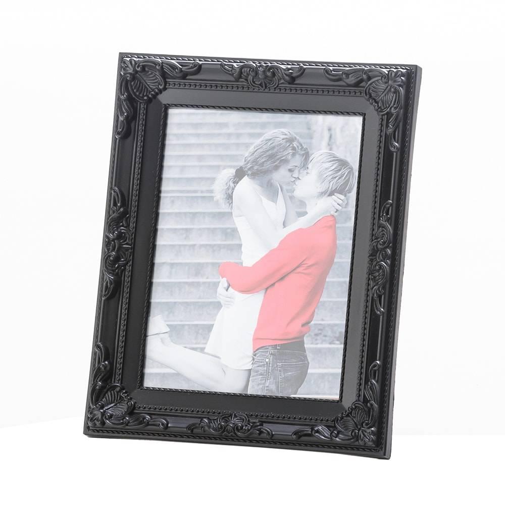 Porta-Retrato Arabesque Preto para Foto 10x15 cm - Lyor Classic - 20x15 cm