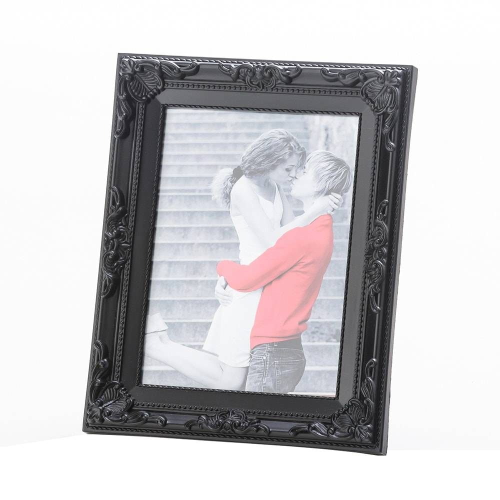 Porta-Retrato Arabesque Preto para Foto 13x18 cm - Lyor Classic - 22x17 cm