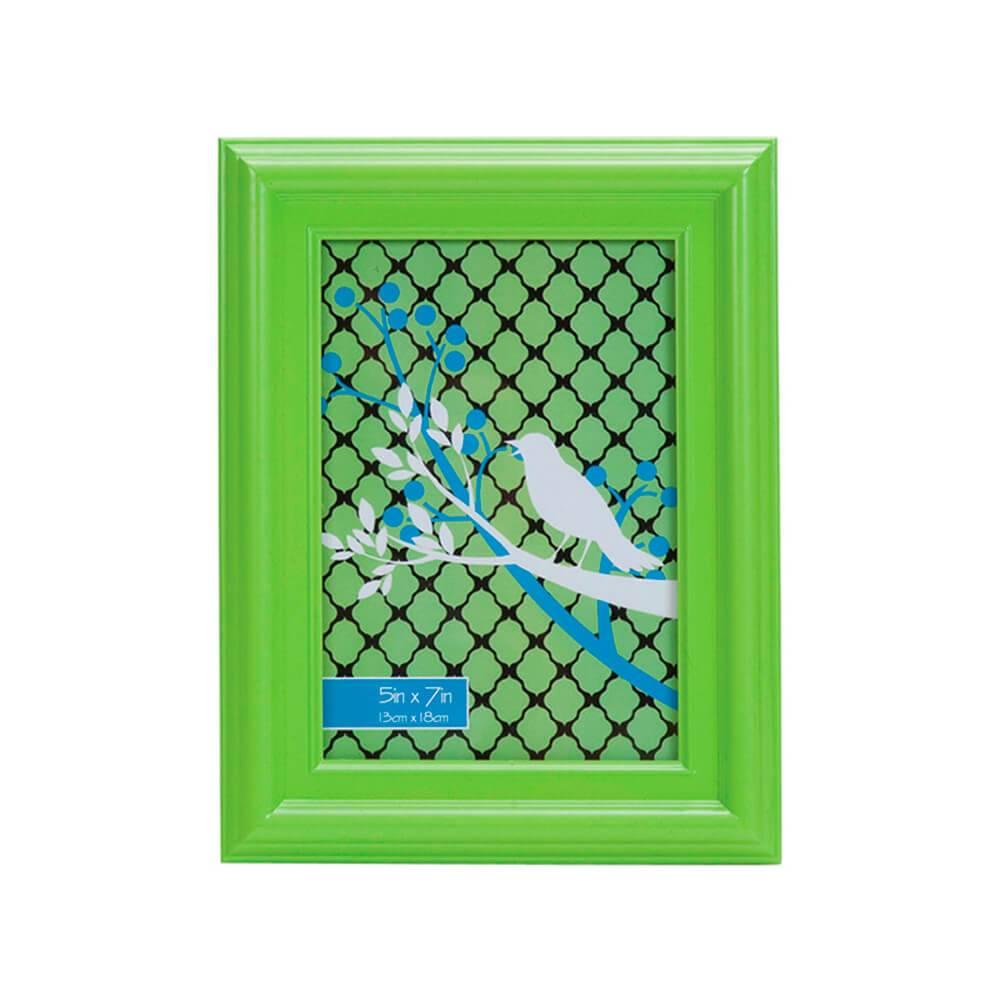 Porta-Retrato Ashton Verde em Polipropileno - Urban - 18x13 cm